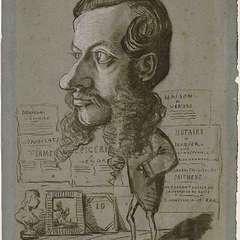 Karykatura Leona Manchona wykonana przez Claude'a Moneta