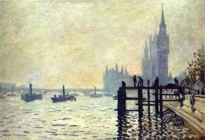 Tamiza poniżej Westminster - Obraz Moneta