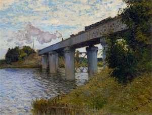 Obraz Moneta - Most kolejowy w Argenteuil - The Railway Bridge at Argenteuil