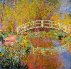 Obraz - Japoński mostek w ogrodzie Moneta -The Japanese Bridge