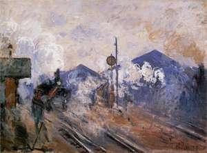Obraz Moneta - Tory kolejowe na stacji Saint Lazare - Train tracks at the Saint-Lazare Station
