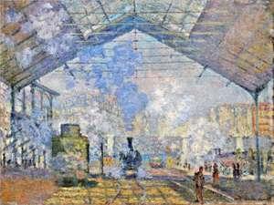Obraz Moneta - Dworzec Saint Lazare - Saint Lazare station