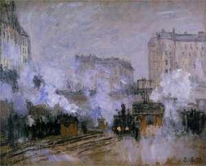 Obraz Moneta - Stacja Saint Lazare, przyjazd pociągu - Saint Lazare station, arrival of a-train