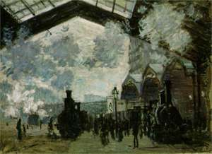 Obraz Moneta - Stacja Saint Lazare