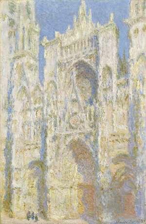 Obraz Moneta - Portal katedry w Rouen w promieniach słońca