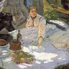 Detal 3 z obrazu 'Śniadanie na trawie'