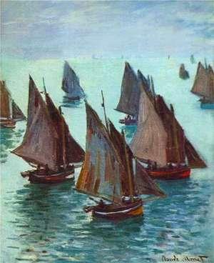 Obraz Moneta - Rybackie łodzie, spokojne morze