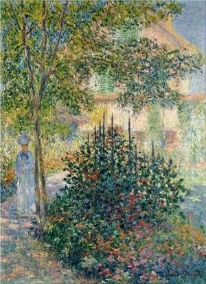 Obraz Moneta - Camille Monet w ogrodzie w Argenteuil