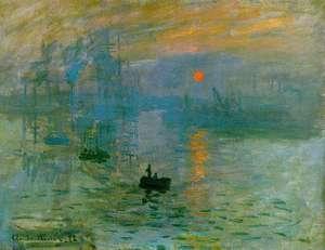 Obraz Moneta - Impresja, wschód słońca