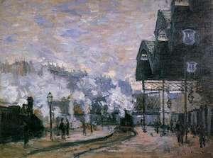 Obraz Moneta - Dworzec Saint Lazare – cześć zachodnia