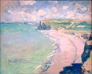 Claude Monet -Plaża w Pourville